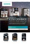 Siemens Espresso: Tot €250 cashback
